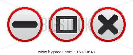 (raster image of vector) web button
