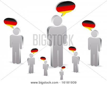 (raster image of vector) group of german people