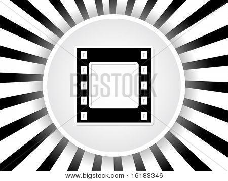 (raster image of vector) filmstrip