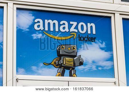 Las Vegas - Circa December 2016: Amazon Locker Location. Amazon Locker Is A Self-service Parcel Deli