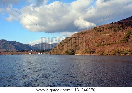 Atmosphere around Lake Ashi. Japan. Afternoon shoot.