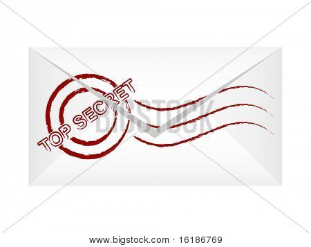 (Raster-Bild des Vektors) oberen geheimen Brief