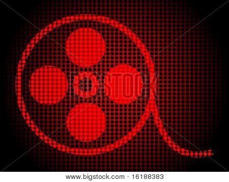 (raster image of vector) filmstripe design