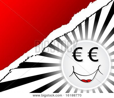 (raster image of vector) euro face