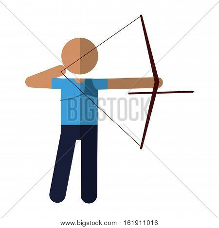 archery player aiming bow game vector illustration eps 10