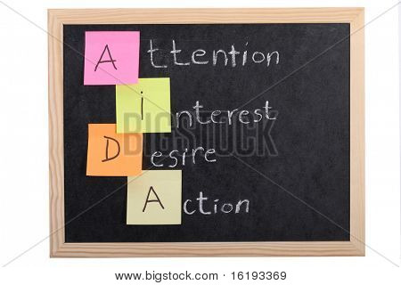 aida concept on blackboard