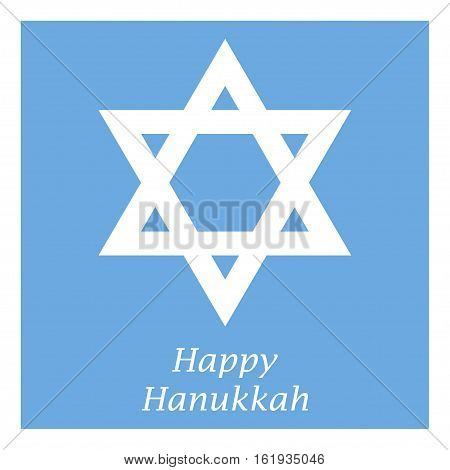 Happy Hanukkah - Jewish holiday on a blue background
