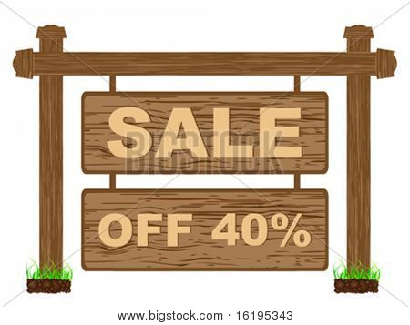 advertising banner for sales forty percent discount