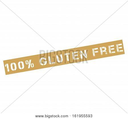 Rubber stamp with text 100% gluten free