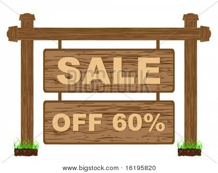 advertising banner for sales sixty percent discount