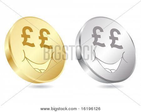 (raster image of vector) lira coins