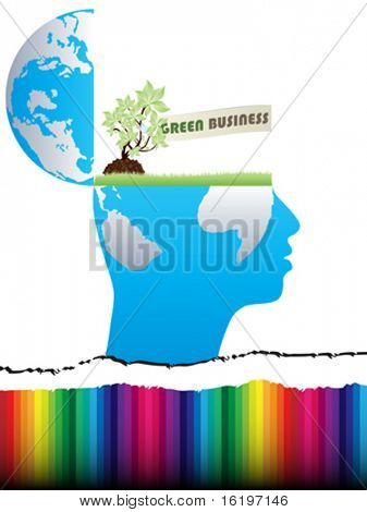 open mind design with green business