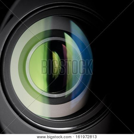 Close up photo of camera zoom lens
