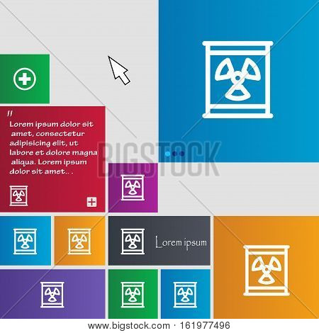 Radiation Icon Sign. Buttons. Modern Interface Website Buttons With Cursor Pointer. Vector