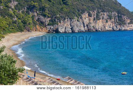 Aegean Sea Coast With Beach (greece).