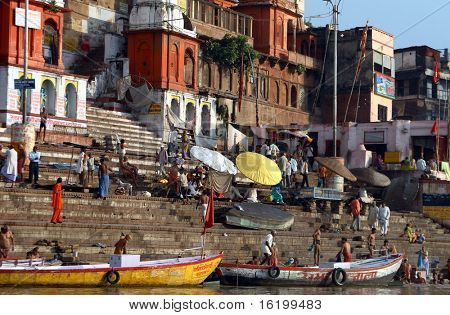Ganga River - tample