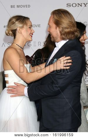 LOS ANGELES - DEC 14:  Jennifer Lawrence, Morten Tyldum at the