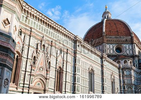 Side View Of Florence Duomo Cathedral In Florece
