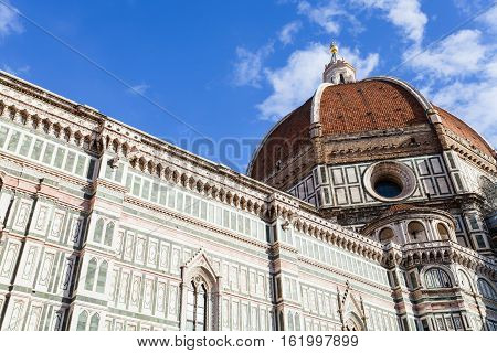 Bottom View Of Dome Of Florence Duomo