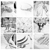 image of unity candle  - Bouquet of wedding images in Black and White color - JPG