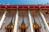 Постер, плакат: Temple Windows Vintage Thai Style