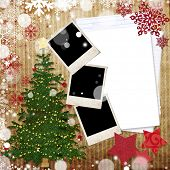 image of christmas greeting  - Christmas greeting card with decorations - JPG