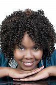 pic of african american hair styles  - A very beautiful African American black woman with a big smile - JPG