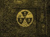 image of nuclear bomb  - Warning sign : nuclear danger