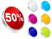 fifty percent discount icon vector illustration