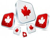 Постер, плакат: канадский флаг плакат