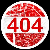 (raster image of vector) 404 error sign