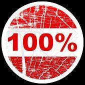 foto of 100 percent  - (raster image of vector) one hundred percent discount - JPG