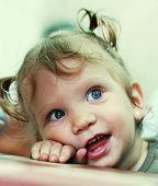 Baby Girl Happy Portrait