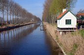 image of damme  - The canal from the little town Damme to Brugge in flanders - JPG