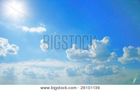 Beautiful sky. Sunlight. Summer in Russia. Travel