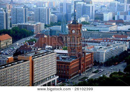 Berlin. Bird's eye view. Town hall (Rathaus)