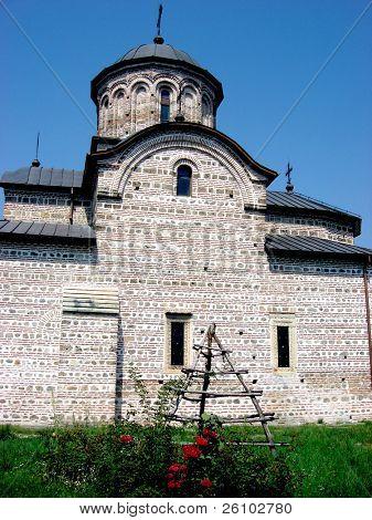 Travel in Romania. Curtea de Arges. Medieval church (Biserica Domneasca Sf. Nicolae )