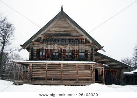 Russia. Novgorod the Great. Museum of wooden architecture.