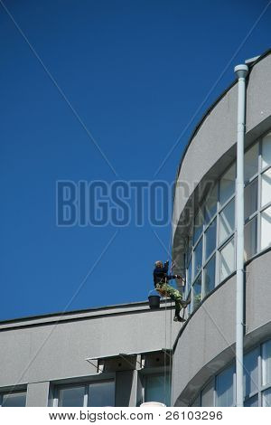 Window washer at work