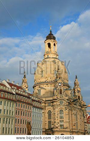 Travel in Germany. Dresdner Frauenkirche (