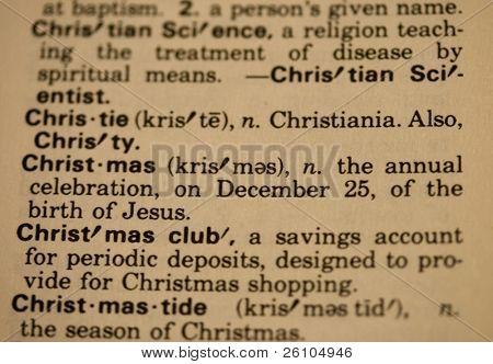 Christmas glossary