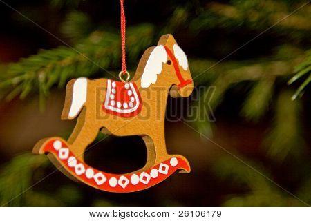 Christmas toy. Rocking horse