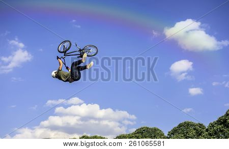 Bmx Freestyle Bmx Rider Makes