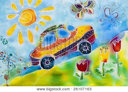 Pre-school Children's Creativity Car