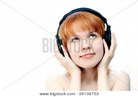 girl in head-phones