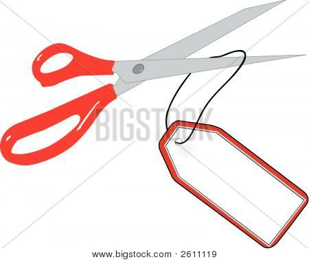 Scissors Cutting Tag