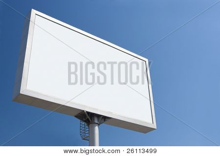 white bill board advertisement under blue  sky