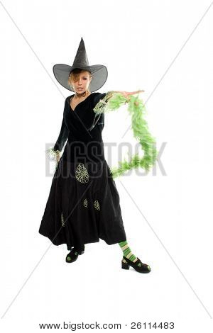 helloween witch isolated over white background