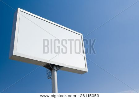white bill board advertisement under blue  sky