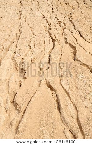 Big Pile Of Sand With Furrows